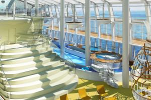Erlebniswelt Four Elements auf AIDAprima. Foto: AIDA Cruises
