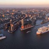 AIDAprima im Hamburger Hafen. Foto: AIDA Cruises