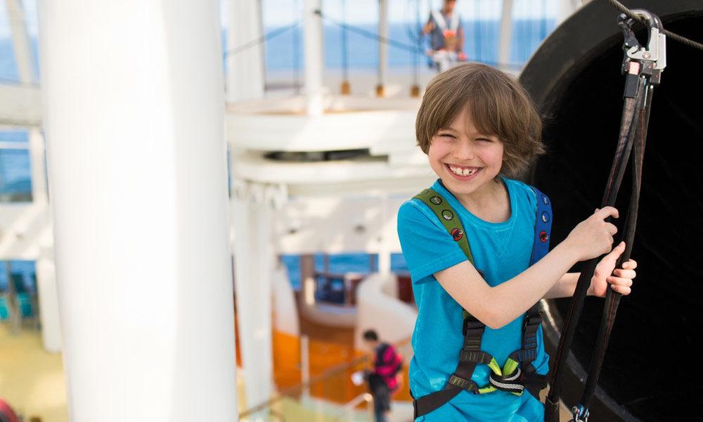 Klettergarten auf AIDA. Foto: AIDA Cruises