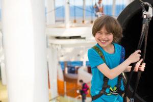 Klettern auf AIDAprima. Foto: AIDA Cruises
