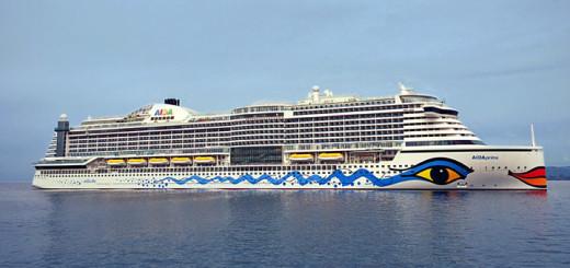 AIDAprima vor Nagasaki. Foto: AIDA Cruises