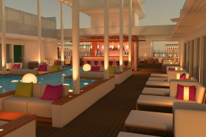 Patio Deck auf AIDAprima. Foto: AIDA Cruises