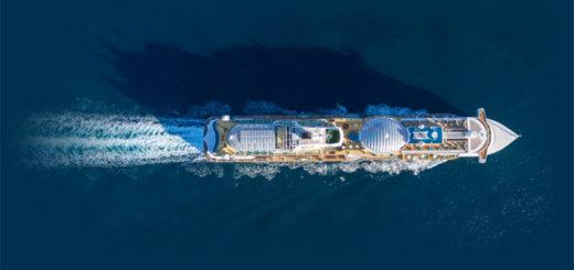 AIDAprima von oben. Foto: AIDA Cruises