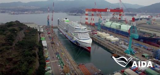 AIDAprima auf der Werft in Japan. Foto: AIDA Cruises
