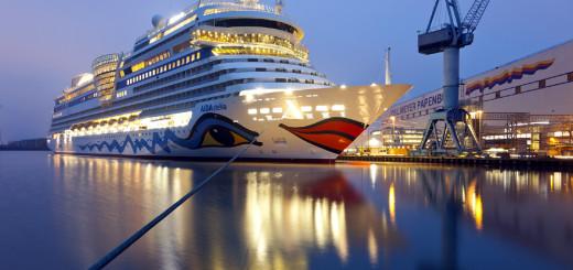 AIDAstella in Papenburg ausgedockt. Foto: AIDA Cruises