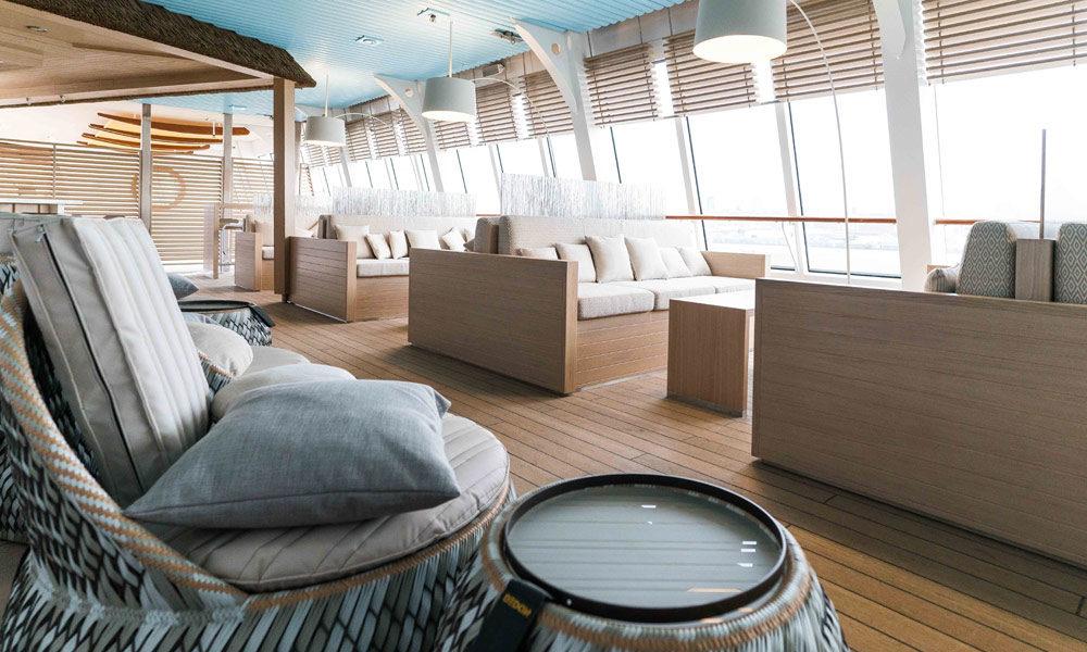 Beach Lounge auf AIDAvita. Foto: AIDA Cruises
