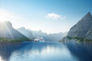 AIDAvita im Fjord. Foto: AIDA Cruises