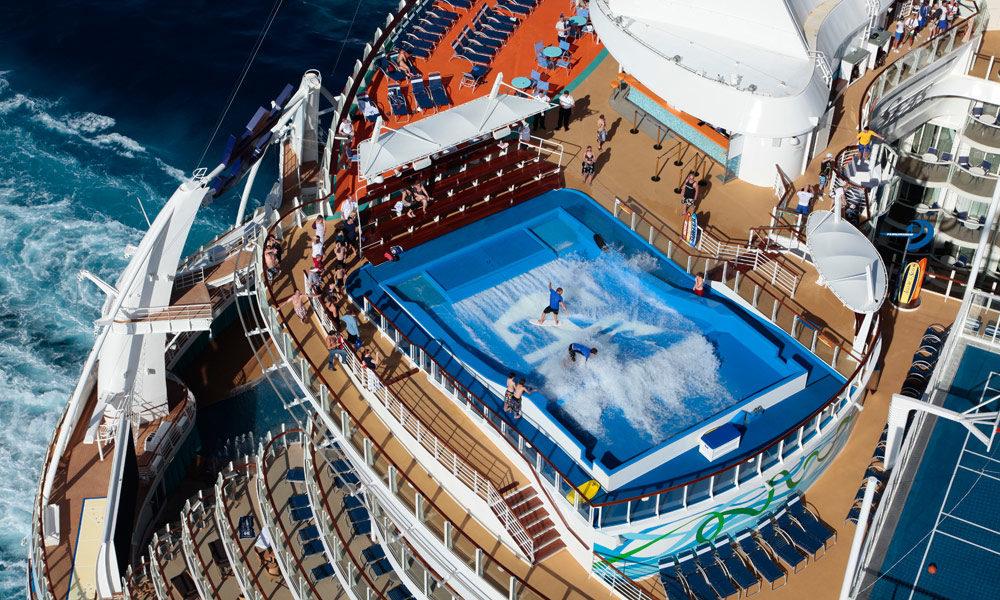 Flowrider auf der Allure of the Seas. Foto: Royal Caribbean International