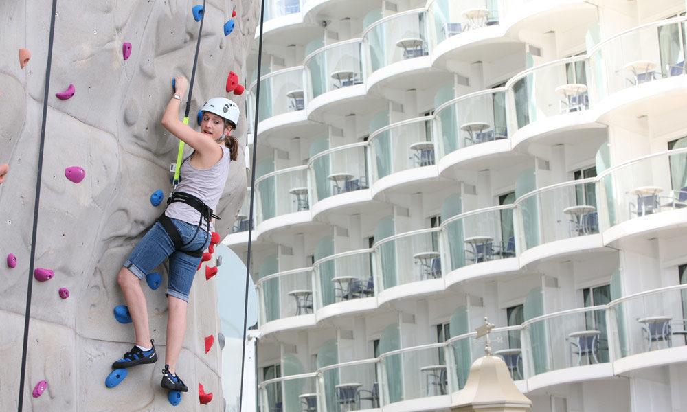 Kletterwand auf der Allure of the Seas. Foto: Royal Caribbean International