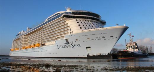 Anthem of the Seas bei der Ems-Überführung. Foto: Tobias Bruns