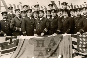 Officiercorps der Augusta Victoria, 1891. Foto: Hapag-Lloyd AG