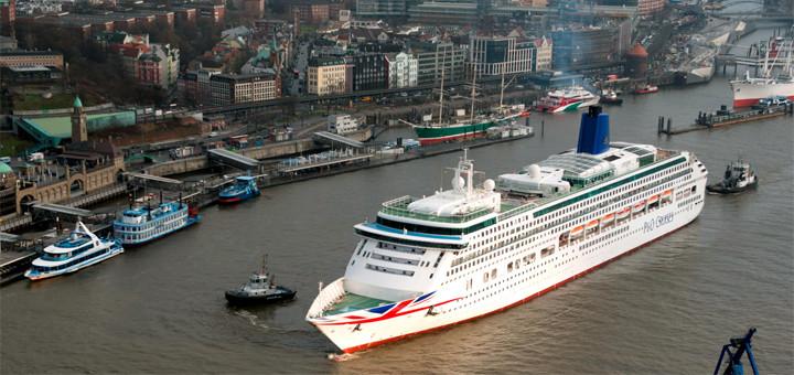 Aurora nach der Renovierung in Hamburg. Foto: P&O Cruises