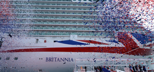 Queen tauft Britannia in Southampton. Foto: P&O Cruises