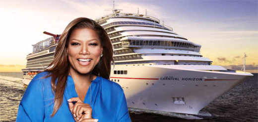 Queen Latifah tauft die Carnival Horizon. Foto: Carnival Cruise Lines