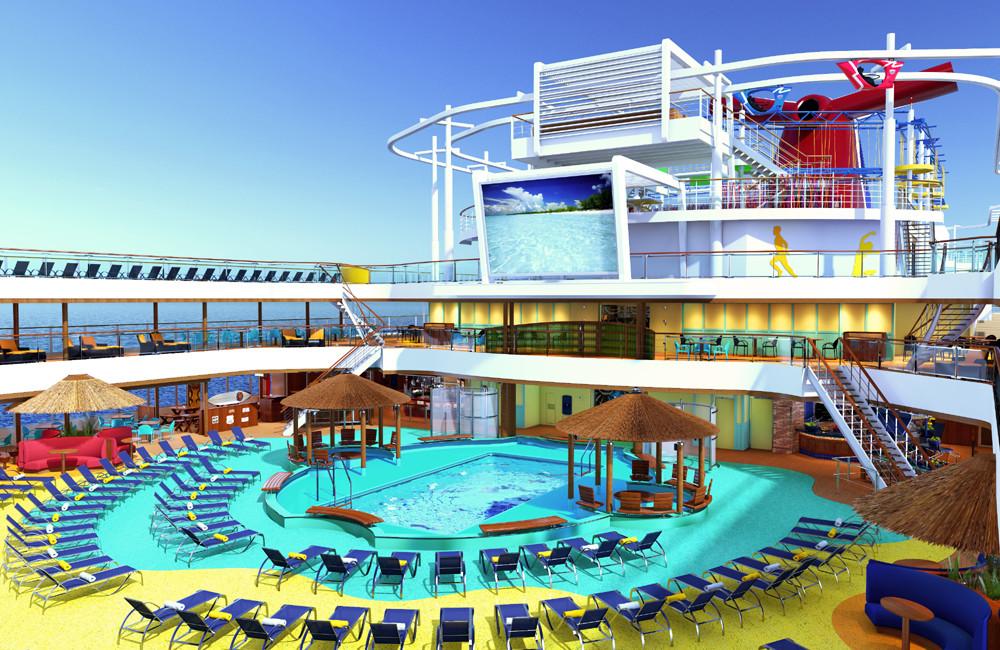 Beach Resort auf Carnival Vista. Foto: Carnival Cruise Lines