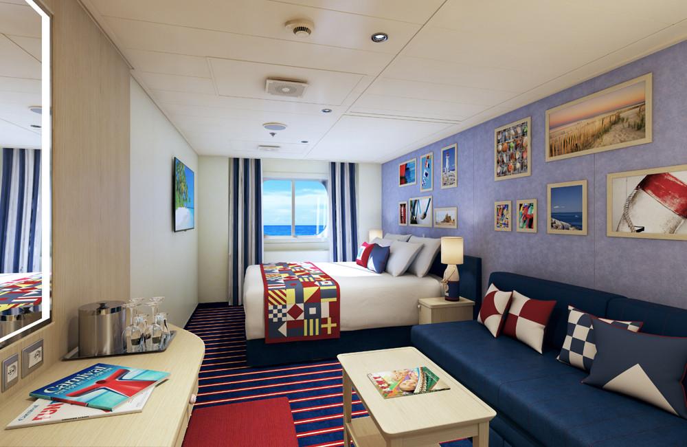 Family Harbor mit Meerblick auf Carnival Vista. Foto: Carnival Cruise Lines