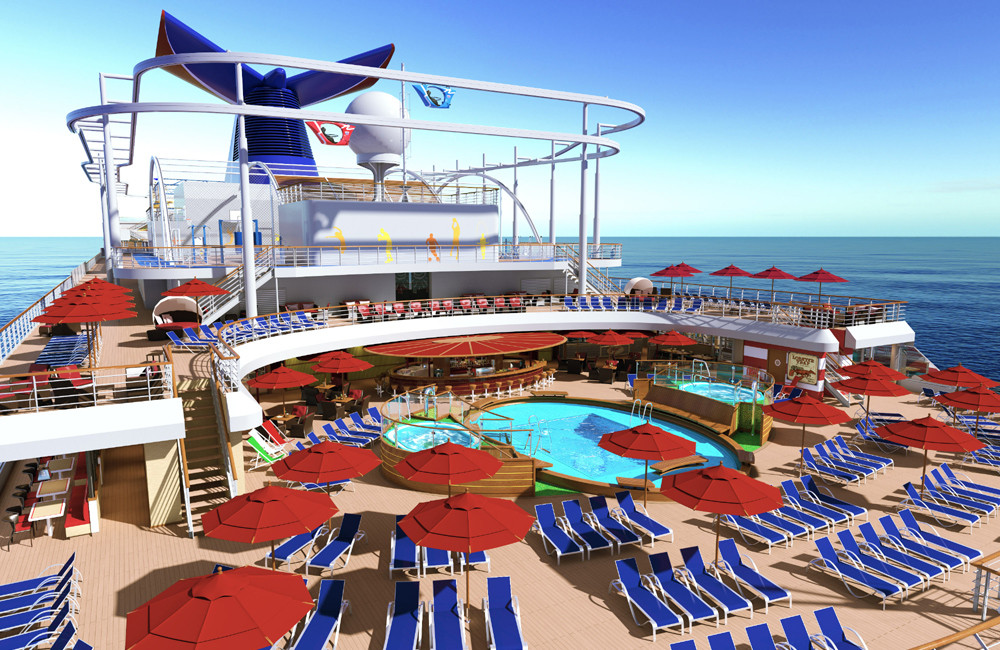 Tides Pool und SkyRide auf Carnival Vista. Foto: Carnival Cruise Lines