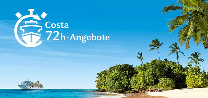72-Stunden-Angebote von Costa Kreuzfahrten