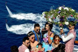 Bollywood-Hochzeit von Sana Kahn und Adel Sajan auf der Costa Fascinosa. Foto: Costa Kreuzfahrten