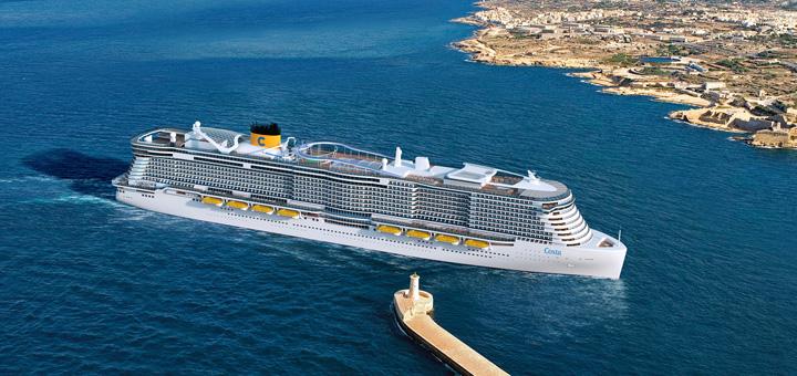 Neues Costa Schiff von der Meyer Werft in Turku. Foto: Costa Kreuzfahrten