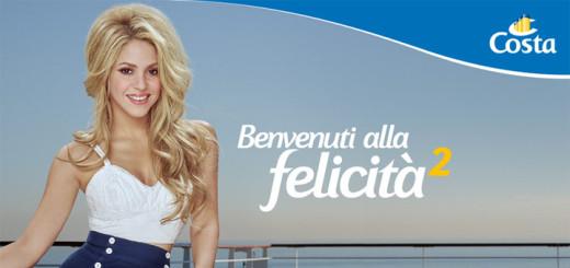 Shakira für Costa Kreuzfahrten. Foto: Costa Crociere