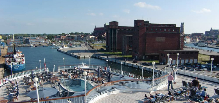 Kreuzfahrtterminal Wismar. Foto: Columbus Cruise Center Wismar