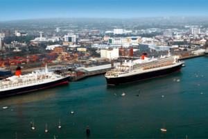 Alle drei Cunard-Queens in Southampton. Foto: Cunard Line