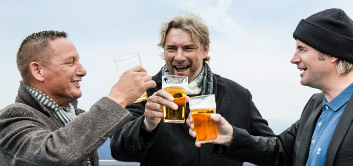 Fußball-Fans an Bord. Foto: DFDS
