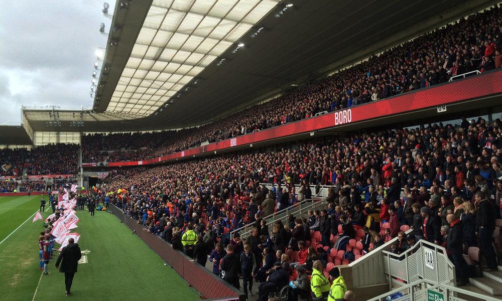 Premier League live im Riverside Stadium von Middlesbrough