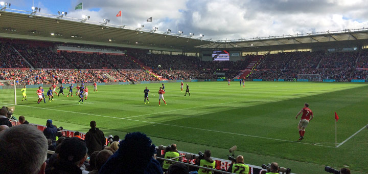 Premier League live im Riverside Stadium von Middlesbrough