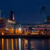 Fährschiff Trelleborg im Stadthafen Rostock. Foto: Jens Schröder