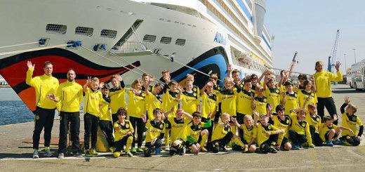 Auf Fußball-Kreuzfahrt mit AIDA und Borussia Dortmund. Foto: AIDA Cruises