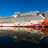 Genting Dream auf der Meyer Werft. Foto: Meyer Werft
