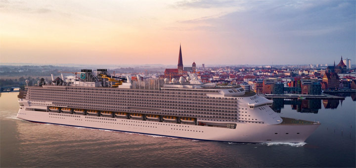 Kreuzfahrtschiff der Global-Klasse für Dream Cruises. Foto: MV Werften