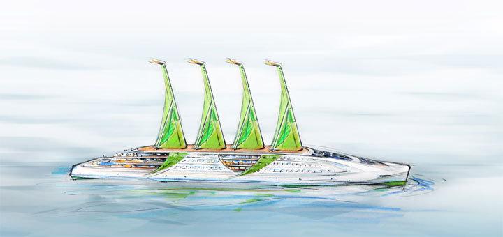 Der Green Cruiser soll den Kreuzfahrtmarkt revolutionieren. Foto: Green Sailing