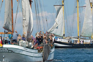 Traditionssegler auf der Hanse Sail Rostock