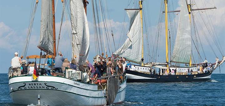 Traditionssegler auf der Hanse Sail Rostock