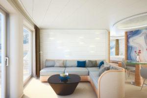 Grand Suite der HANSEATIC . Foto: Hapag-Lloyd Cruises