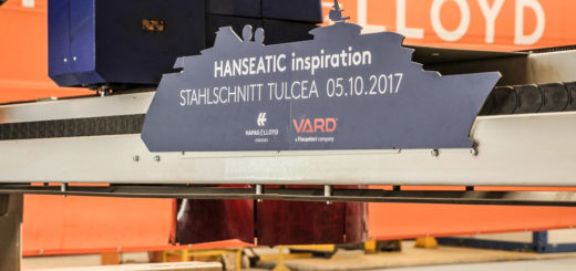 Stahlschnitt der HANSEATIC inspiration. Foto: Hapag-Lloyd Cruises