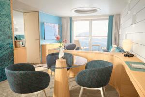 Junior Suite der HANSEATIC. Foto: Hapag-Lloyd Cruises