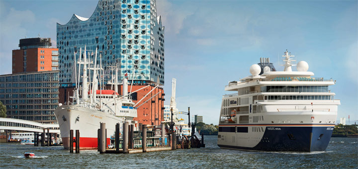 HANSEATIC nature in Hamburg. Foto: Hapag-Lloyd Cruises