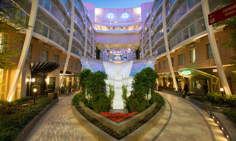 Central Park auf der Harmony of the Seas. Foto: Royal Caribbean International