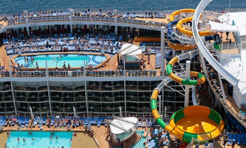 Pooldecks auf der Harmony of the Seas. Foto: Royal Caribbean International