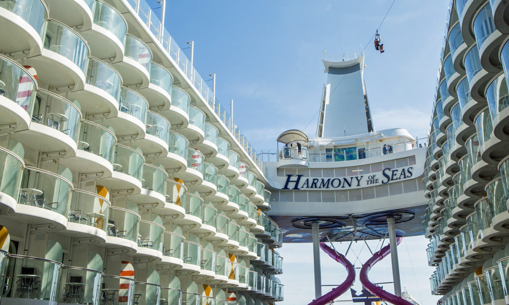 Seilbahn auf der Harmony of the Seas. Foto: Royal Caribbean International