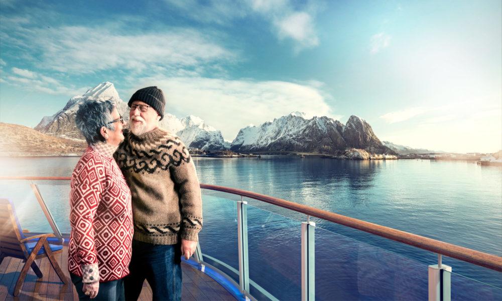 Paar an Bord von Havila