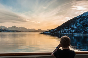Ausblick bei Hurtigruten. Foto: Hurtigruten