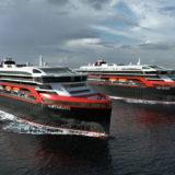 Zwei neue Expeditionsschiffe für Hurtigruten. Foto: Rolls-Royce