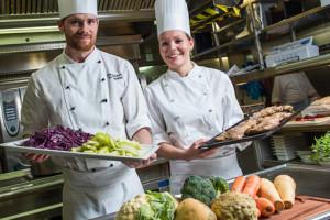 Kulinarik bei Hurtigruten. Foto: Hurtigruten