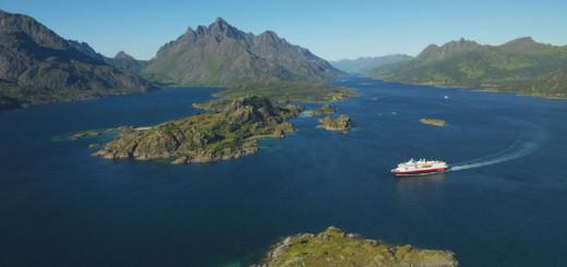 Hurtigruten in Norwegen. Foto: Hurtigruten