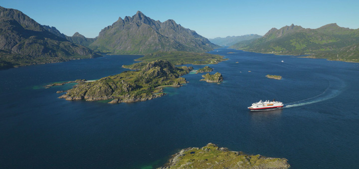 Hurtigruten in Norwegen. Foto: Hurtigruten